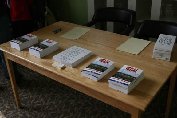 The books all ready to be sold and signed...